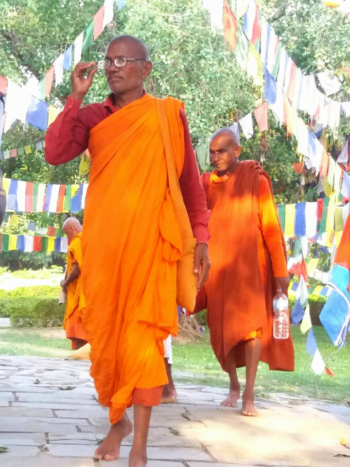 prayer flags lumbini nepal with Sadhu 10-day Buddhist Vipassana Retreat Julie Jewels Bertrand