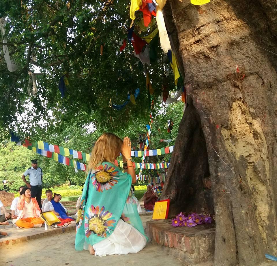 Julie Jewels Bertrand Lumbini Nepal Birtthplace of Buddha meditate tree